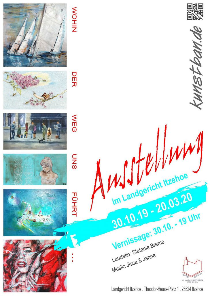 Flyer zur Ausstellung Landgericht Itzehoe