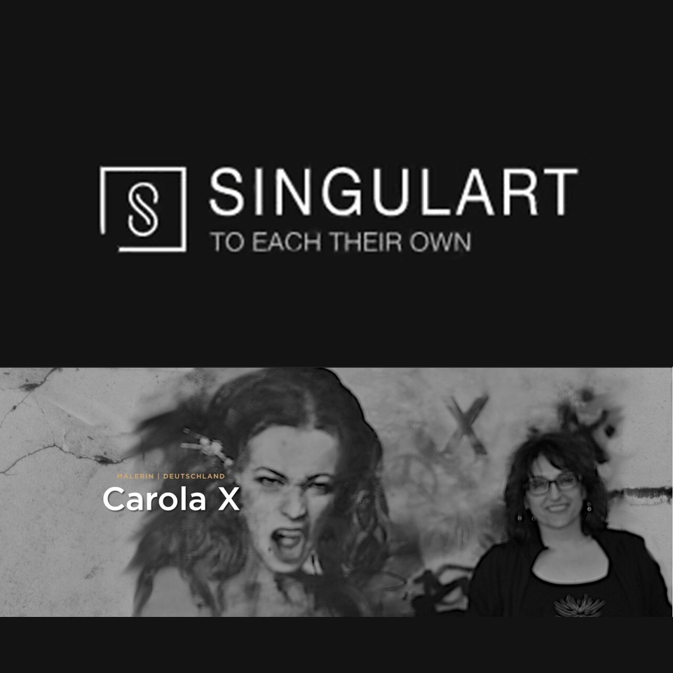 Logo Singulart-Online-Galerie und Foto Carola X